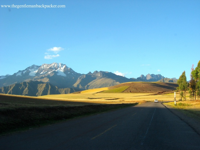 Driving through the Sacred Valley of Peru