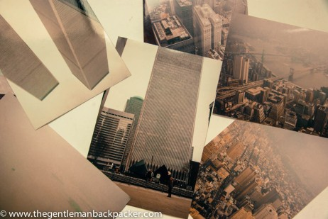 A collage of images from or of the World Trade Center