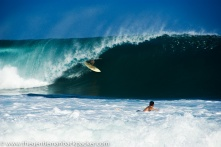 """""""The Pipe"""": Surfers welcome the start of the winter swell at Banzai Pipeline, North Shore of Oahu, October 2012."""